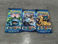 Pokemon TCG: XY Evolutions Sealed Booster Pack Lot Of 3