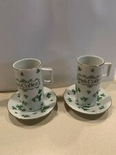 Vintage Lefton Irish Coffee Cup Shamrocks