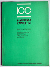 Gianfranco Zappettini, catalogo ICC Antwerpen, 2000. Pittura analitica