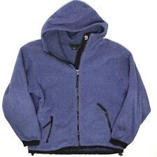 Mountain Hardwear Womens Fleece Hoodie 10 Blue Zip Hooded Jacket USA Polartec