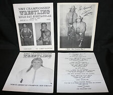 NWF Championship Wrestling Programs w Signed Flyer of Wild Eyed Southern Boys