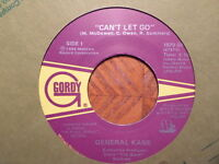 GORDY/MOTOWN 45 RECORD/GENERAL KANE/CAN'T LET GO/CUTTIN' UP/ EX 1986 RAP HIP HOP