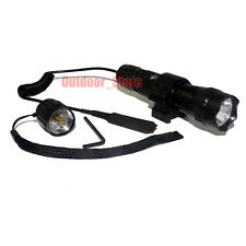 UltraFire WF-501B CREE XM-L T6 LED 3Mode Tactical Flashlight Torch + Mount Set