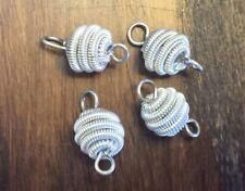 Vintage Silver Metal Super Twist Coil Beehive Spring Bead Links Connectors Lot
