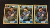 Johnny Grubb Tigers 1987 Topps #384 Padres Signed Authentic Autograph JA15