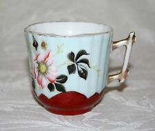 BELLISSIMO Antico Pesante porcellana dipinti a mano floreale BAFFI Cup