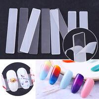 5Pcs Clear False Nail Tips Display Stand Holder Nail Art Tool w/ Protective Film