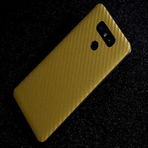 1PC Color film Carbon Fiber Skin Back Cover Screen Protector Film For LG G6 V30
