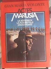 Affiche ACTES DE MARUSIA Miguel Littin GIAN MARIA VOLONTE Diana Bracho 60x80cm