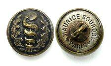 Bouton Officier Service de Santé (1914-1918). 16 mm. Couleur bronze. France