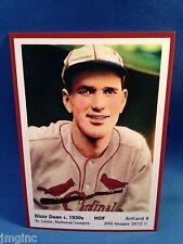 Dizzy Dean, St. Louis, ArtCard #9 - Baseball card of HOF player c.1930's