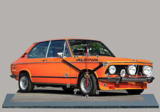 MODEL CARS, BMW 2002-tii ALPINA  -03, car passenger,11,8x 7,8 inches  with Clock