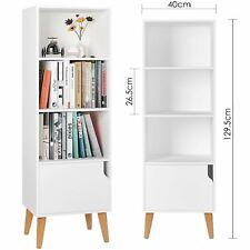 Raumteiler Bücherregal Standregal Aktenregal Raumtrenner Regal 4 Fächer WeißHolz