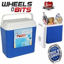 22L Litre Cool Box 12v Portable Cooler Blue Fridge Camping Picnic Beach EU Made