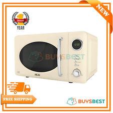 Akai Pull Handle Retro Digital Microwave, 5 Power Levels, 700W 20L Cream A24006C