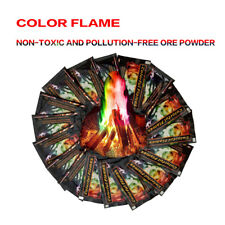 2PCS Mystical Color Fire Pack Magic Flames Colorant Campfire Fireplace Packets