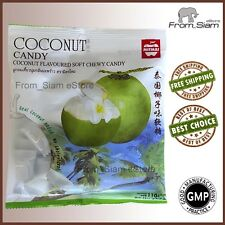 COCONUT Fruit Soft Chewy CANDY Sweet Sweetmeats Lollipops - 110g (3.88oz)