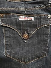 Hudson Jeans Triangle Flap Pockets Med Wash 29 X 29.5 Straight Leg