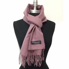 New Women's Winter 100%CASHMERE SCARF SOLID DESIGN Scotland Soft Warm Wool Mauve