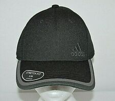 New Adidas Men`s Velocity Stretch Fit Cap Hit sz S/M  AeroReady BLACK GREY