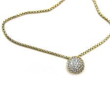David Yurman Womens Châtelaine 7mm 18k Gold Pendant Necklace