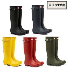 Hunter Women Orginal Tall Black Rubber boots Size UK 3 - 8 Various Colours