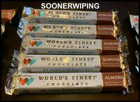 World's Finest Chocolate Bars (7pcs) Almond 1.3oz/37g FREE SHIPPING