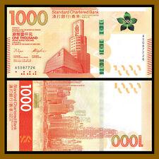 Hong Kong 1000 (1,000) Dollars, 2018 P-New Chartered Bank (SCB) New Design Unc