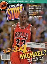 Michael Jordan Cover Inside STUFF Vol 1-4 Fleer NBA Card Sheet 1993
