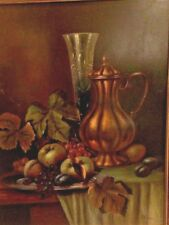 19th century Still Life Oil Painting on board, Signed and framed