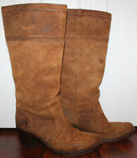 FRYE Womens Jane Stitch Oiled Suede Leather Knee High Riding Boots ~ 77222 ~ 9 B