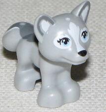 LEGO NEW LIGHT BLUISH GREY FOX WITH BLUE EYES FRIENDS ANIMAL