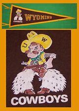 VINTAGE University of Wyoming Cowboys Football Pennant!