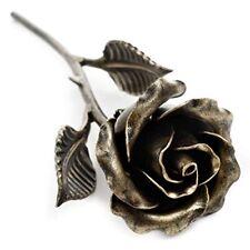 Handmade 8th Wedding Anniversary Gift for Her - 'Bronze' Steel Rose Sculpture