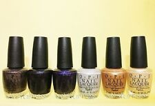 Opi Nail Lacquer *Night Brights Collection 2007* 6 Shades Set New Free Ship!