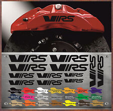 12 x VRS Bremssattel Aufkleber Sticker Hitzebeständige Skoda Octavia VRS12P X3-E