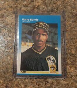 Barry Bonds 1987 Fleer Rookie Card #604 RC Giants Gradeable Mint