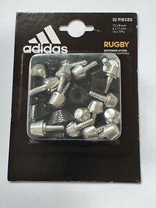 Adidas Adipower Rugby Aluminium Studs 12 x 8mm, 4 x 11mm Brand New in Box TPU