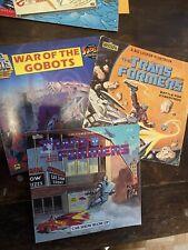 TRANSFORMERS Book Lot of 3 VTG 1984 Marvel GoBots