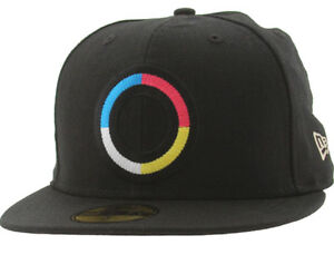 Kidrobot 59Fifty CMYK Ring Logo BLACK Fitted Cap Multiple SZ. HOT SOLD OUT ITEM!