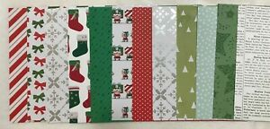 """Stampin' Up! Christmas Pack 1  DSP 6"""" x 6"""" (Retired)"""