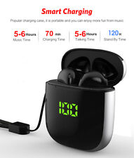NEW BLACK WIRELESS BLUETOOTH headphones earphones EarPod SPORTS earbuds TWS Wk60