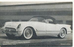 Chevrolet Corvette  Sports Car Arcade Card 1953/4 * General Motors Corp.