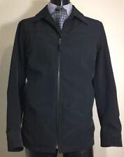 Prada Nylon Black Jacket Car Coat Men's XL Made In Italy
