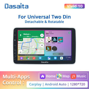 "Dasaita 10.2"" Android 10 Car Stereo GPS Sat Nav Radio WiFi 2DIN Touch Screen BT"