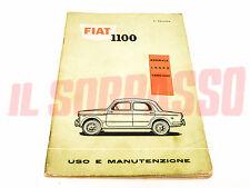 FOLLETO USO Y MANTENIMIENTO FIAT 1100 103 H D NORMAL LUJO FAMILIAR ORIGINAL