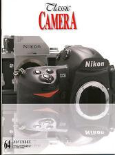 Classic Camera  N.64 Novembre 2007 rivista in italiano collezionismo fotografico
