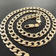 NECKLACE CHAIN REAL 18K ROSE G/F GOLD SOLID MEN'S HEAVY ANTIQUE LINK FS3A052