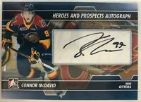 2013-14 Connor Mcdavid In the Game Heroes and Prospects Autograph #A-CM Rare