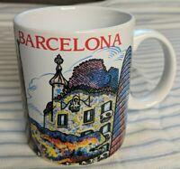 Jumi Barcelona Mug White With Red Lettering